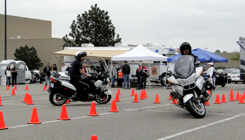 Motorcycle cops show their stuff