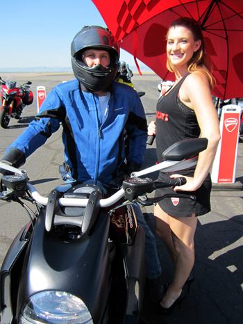 Ducati Diavel, me, and Ducati girl