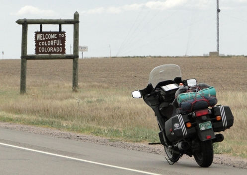 The Kansas/Colorado state line on U.S. 36.
