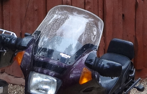 wet motorcycle