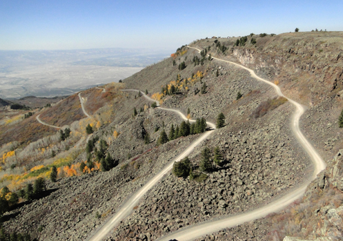 The Lands End Road running off Grand Mesa