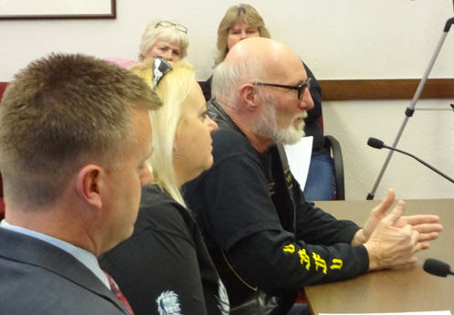 Diablo and Tiger at the MOST hearing in February 2012.