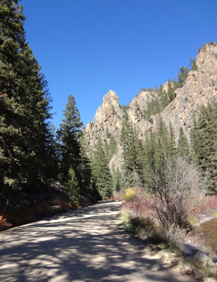 Heading up Spring Creek Canyon