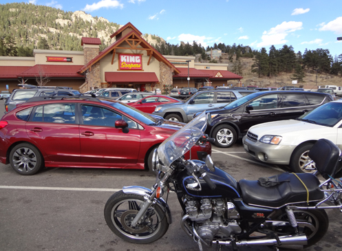 My Honda in the King Soopers parking lot in Aspen Park.