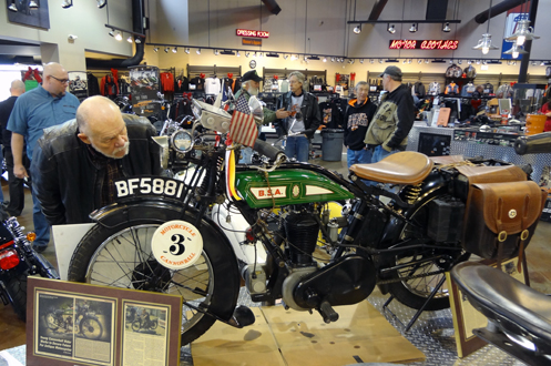 A BSA that rode in the 2012 Motorcycle Cannonball Run