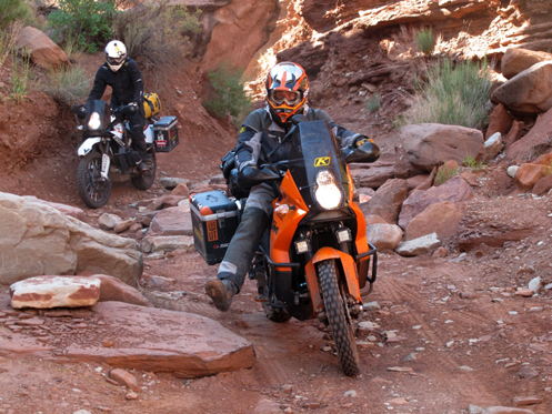 Going backcountry on adventure motorcycles