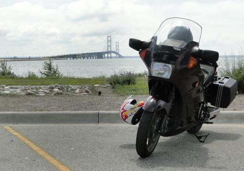 Kawasaki Concours At Mackinac Bridge