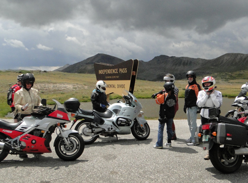 Bikers On Independence Pass