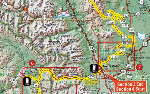 Colorado Backcountry Discovery Route map