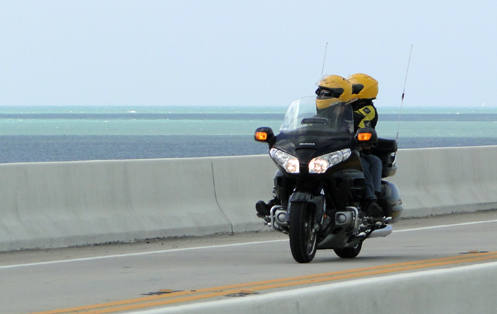 motorcycle along the Florida coast
