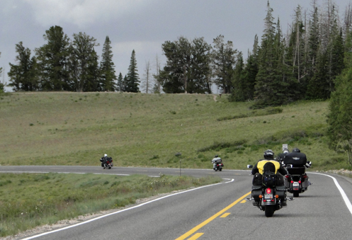 riders ahead on the road