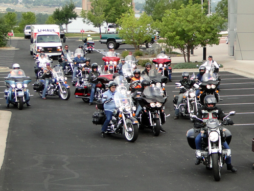 lots of bikers