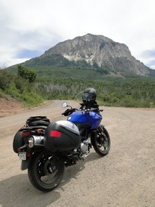 V-Strom on Kebler Pass