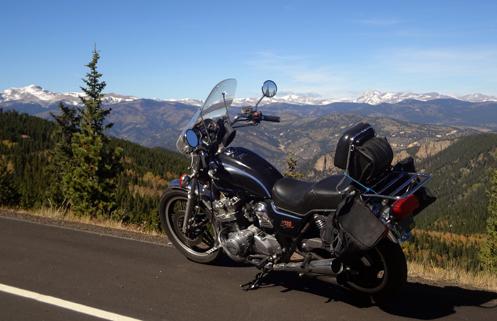 CB750 on Squaw Pass