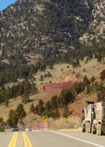 Coal Creek Canyon Roadblock