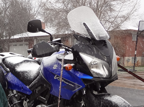 V-Strom in the snow