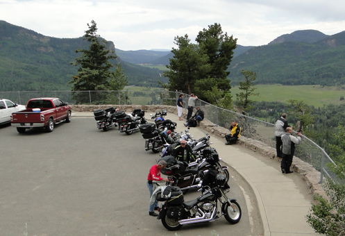 Motorcycles at Wolf Creek Pass 2013