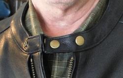 Warrior motorcycle jacket collar