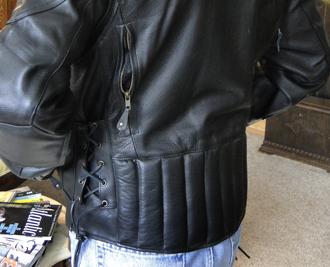 Warrior jacket rear view