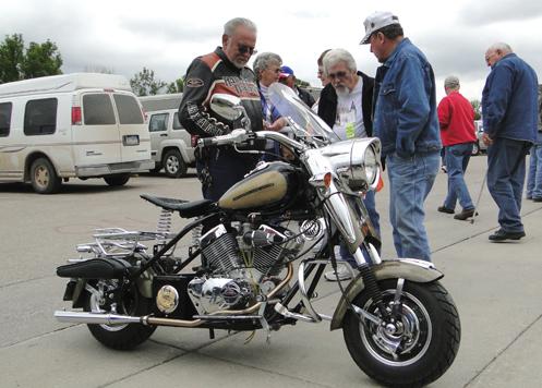 Cushman looking like a Harley