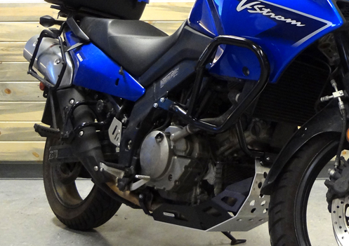 V-Strom Crash Bars and Skid Plate