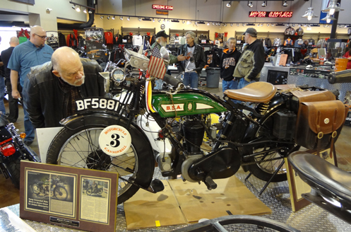 A bike from the 2013 Motorcycle Cannonball