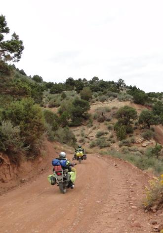 dirt bikes in Dinosaur National Monument