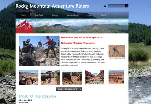 Rocky Mountain Adventure Riders website
