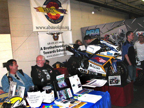 The ABATE booth at the 2010 Show And Swap