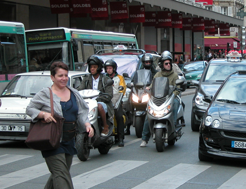 Lane Splitting In Paris