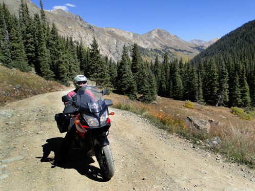 V-Strom on Cinnamon Pass