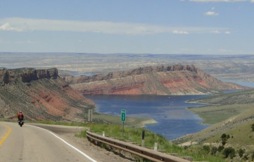motorcycle at Flaming Gorge