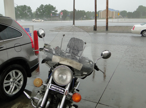rainy day for a motorcycle ride