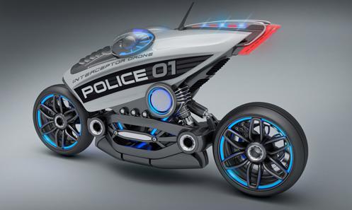 Riderless motorcycle