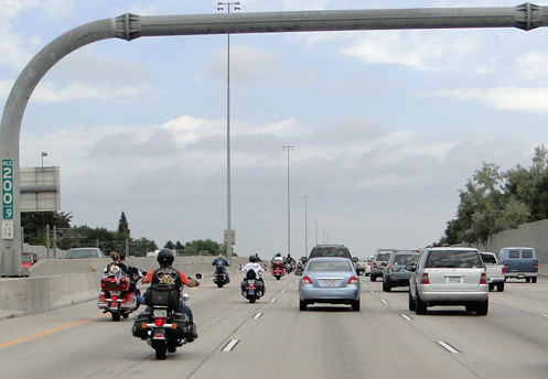 Motorcycles On I-25