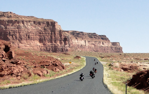 motorcycles on a Utah highway