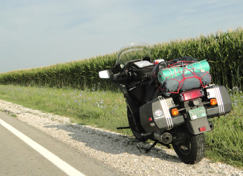 Corn and Motorcycle