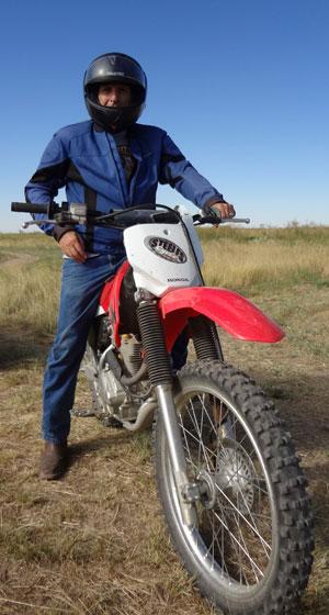 Ken On Dirt Bike