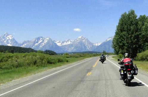 motorcycles at the Grand Tetons