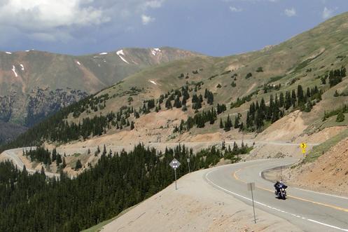 Motorcycle On Loveland Pass