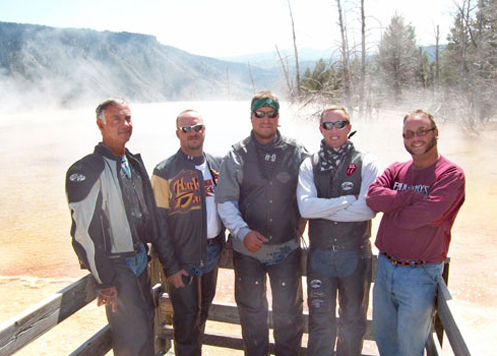 Bikers in Yellowstone