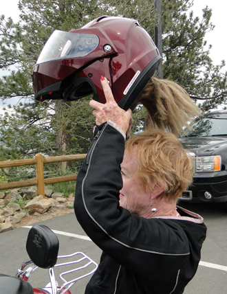 motorcycle helmet with fall in back