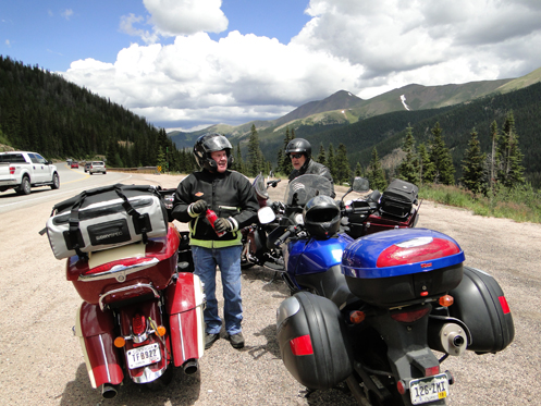 motorcycle on Berthoud Pass