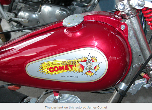 Gas tank of James Comet