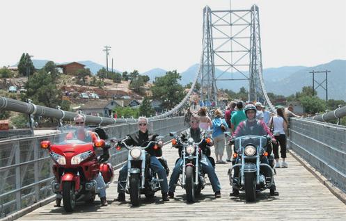 motorcycle on Royal Gorge bridge