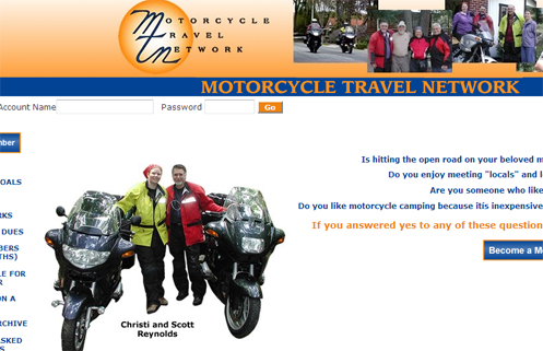 Motorcycle Travel Network site.