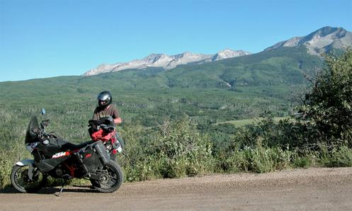 motorcycle along Kebler Pass.