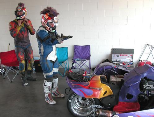 sidecar racers prep