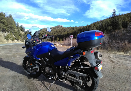 motorcycle in Coal Creek Canyon