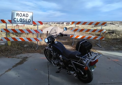 motorcycle and dead end